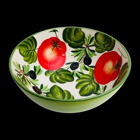 Saladier faïence Olives et Tomates taille 3
