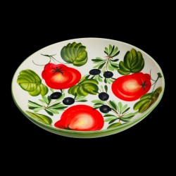 Majolica Olives & Tomatoes Salad Bowl size 4