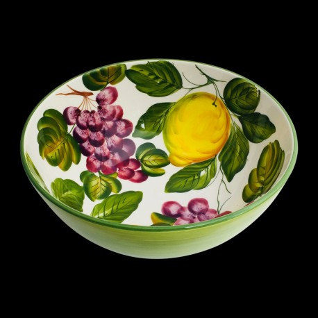 Majolica Lemons & Grapes Salad bowl size 3