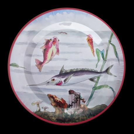"Tin plate ""The Fantastic World"" Swordfish"