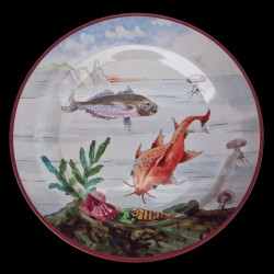 "Tin plate ""The Fantastic World"" Red mullet"
