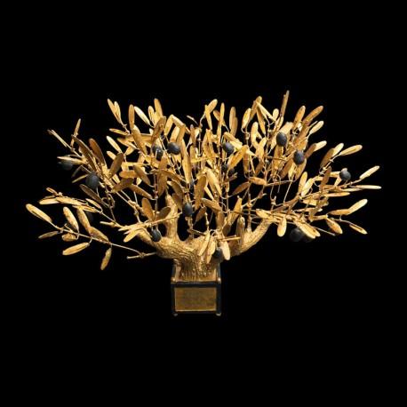 Grand olivier bonzaï doré