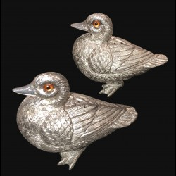 Salt & pepper shakers Pewter Duck
