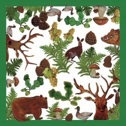 Pack de 20 servilletas de papel de la colección Bosque