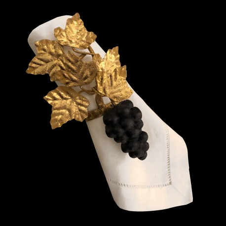 Gilted and black Grape napkin ring
