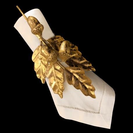 Rond de serviette chêne doré