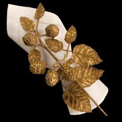Rond de serviette Framboises doré