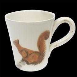 Majolica mug Squirrel