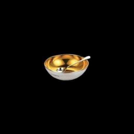 Coupelle à sel en argent intérieur vermeil