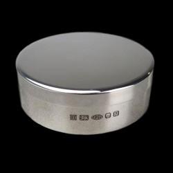 Round pill box D 6 cm silver