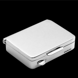 Rectangular pill box 4.6mm x 3.5mm x 1.2 cm silver