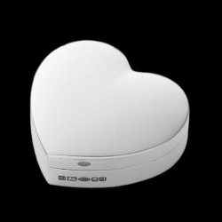 Pill box heart shape 1.2 x 4.2 cm x 3.8 cm silver