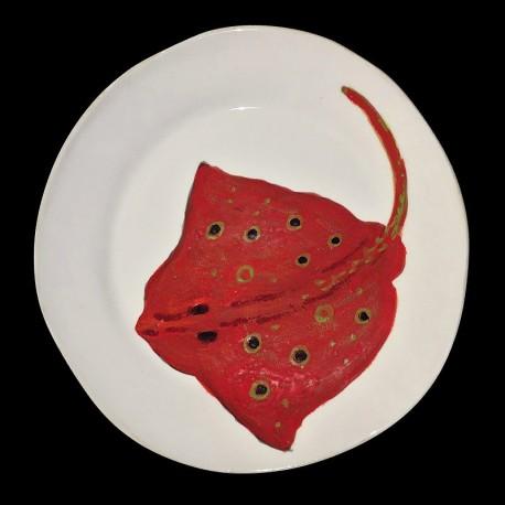 Majolica dinner plate Ray