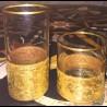 Verre soda Cristal gravé doré Collection Wagner