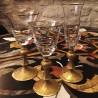 Verre à vin Cristal gravé doré Collection Wagner