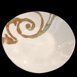 Assiette creuse faïence motif Fenêtre 24 cm