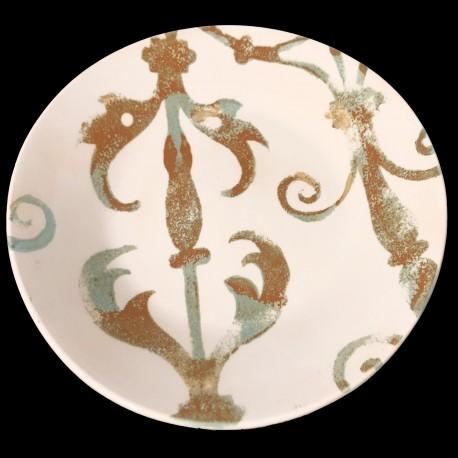 Assiette de table faïence motif Fenêtre 28 cm
