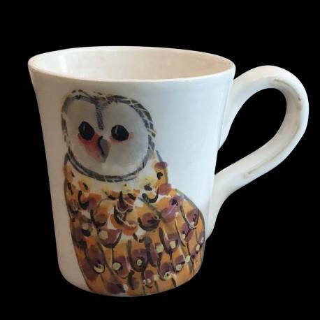 Majolica Owl Mug