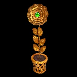 Rose d'or cœur d'Emeraude (pot)