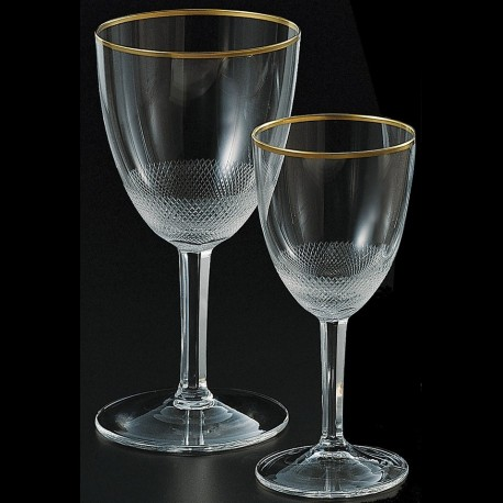Crystal stemmed glass for the white wine 180ml. ROYAL collection