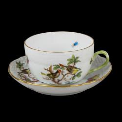 Tasse à thé et sous tasse Rothschild Herend