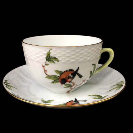 Large breakfast cup and saucer Rothschild Herend