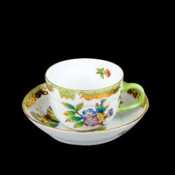 Tasse à café et sous tasse Victoria Herend