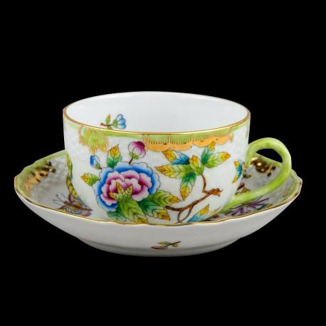 Tasse à thé et sous tasse Victoria Herend