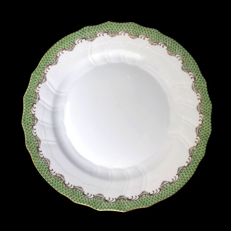 Assiette de table Ecailles vertes 26 cm