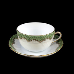 Tea cup and saucer Herend Fish scale rust
