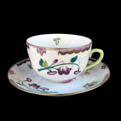 Large breakfast cup and saucer WBO Herend