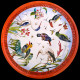 """Boîte en tôle de 6 assiettes en tôle """"Les Oiseaux"""" collection Buffon"""
