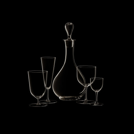Water glass on low stem crystal collection n°4