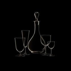 Verre à eau à pied haut cristal collection n°4