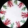 Assiette de table porcelaine Corail