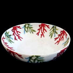 Assiette calotte porcelaine Corail