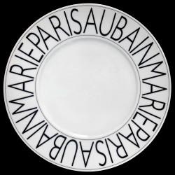 Assiette de présentation porcelaine Graphique