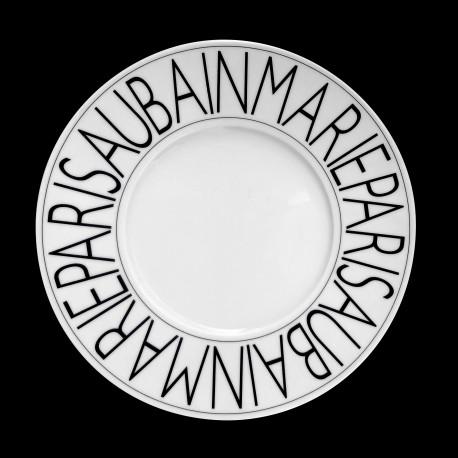 Assiette à dessert porcelaine Graphique