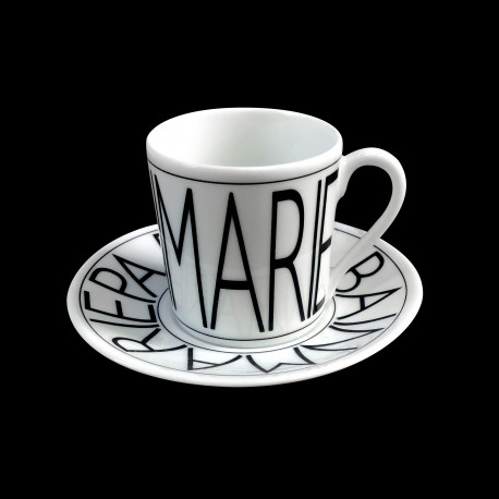 Coffee cup and saucer porcelain Graphic