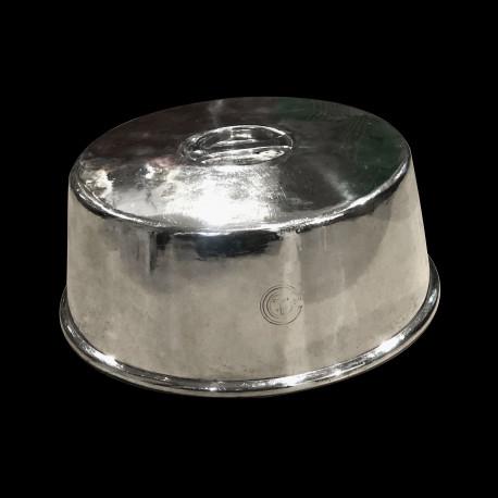 Cloche à assiette CGT paquebot Normandie design Luc Lanel 1ère classe métal argenté