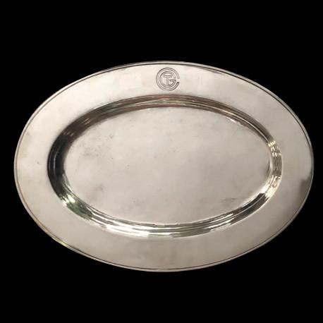 Plat ovale Christofle CGT métal argenté 30x21cm