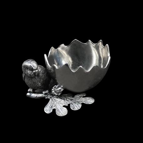 Pewter Eggcup Bird