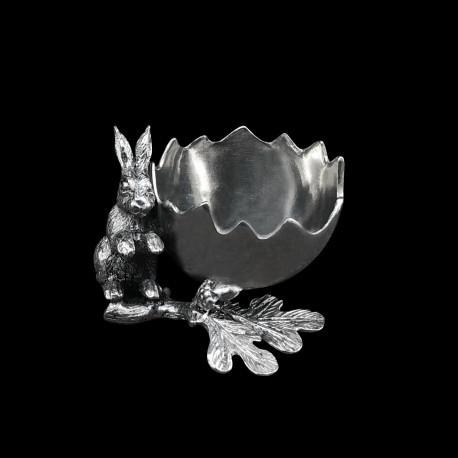 Pewter Eggcup Rabbit