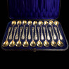 18 sterling silver spoons egg spoons by George Adams
