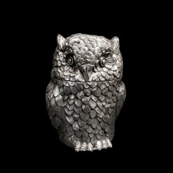 Owl Ice Bucket designed by Mauro Manetti, silver Plated