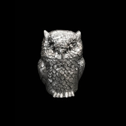 Owl Ice Bucket Designed by Mauro Manetti, Silver Plated, circa 1960