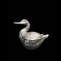Duck Ice Bucket Designed by Mauro Manetti, Silver Plated, circa 1960