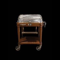 Table à viande Christofle en métal argenté vers 1940