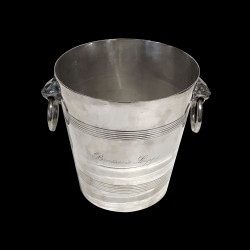 Champagne Bucket Brasserie Lipp silver plated