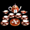 Godollo Tea set in Herend Porcelain for 6 persons